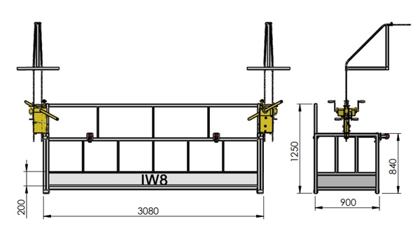Andaime Balancim Manual 3 metros