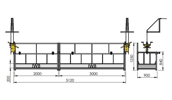 Andaime Balancim Manual 5 Metros